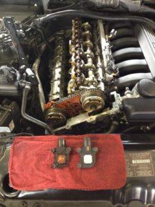 Eccentric Shaft Sensor on a BMW N52 Engine.