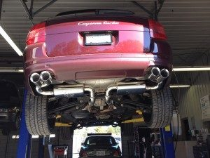 ECU tune and performance exhaust system on a Porsche Cayenne Turbo