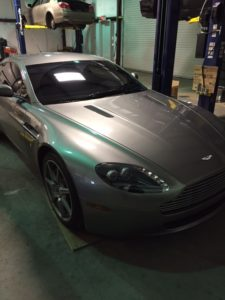 Aston Martin V8 Vantage with Sportshift transmission. Yes, we do them too!